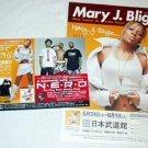 MARY J. BLIGE two tour & CD flyers Japan 2004 [PM-200f]