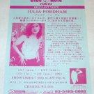 JULIA FORDHAM show flyer Japan 2003 @ Blue Note Tokyo [PM-200f]