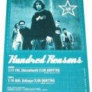 HUNDRED REASONS concert flyer Japan 2003 [PM-100f]