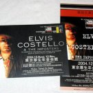 ELVIS COSTELLO two concert flyers 2004 Japan [PM-100f]