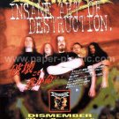 DISMEMBER Hate Campaign CD flyer Japan 2000 death metal [PM-100f]