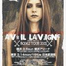 AVRIL LAVIGNE Bonez Tour & CD flyer Japan 2005 #1 [PM-100f]