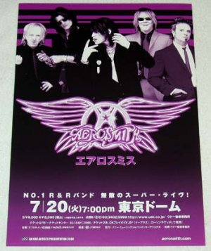 AEROSMITH concert & CD flyer Japan 2004 [PM-100f]