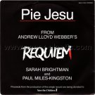 SARAH BRIGHTMAN & PAUL MILES-KINGSTON Pie Jesu from Requiem 45 Japan promo w/PS [7-100]