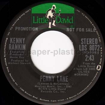 KENNY RANKIN Penny Lane stereo/mono 45 USA - Beatles song [7-100]