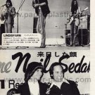 LINDISFARNE NEIL SEDAKA magazine clipping Japan 1973 [PM-100]