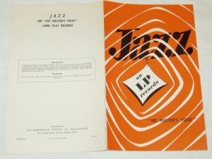 Jazz on LP Records His Master's Voice 1957 or 58 UK [PM-100]