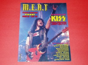 MEAT Canada metal mag #42 Kiss's Gene Simmons Vince Neil Iron Maiden Therapy? April Wine [MX-250]