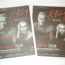 STING (THE POLICE) & ANNIE LENNOX two concert adverts in English and French Canada 2004 [SP-250t]