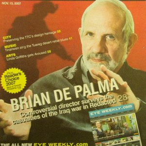 BRIAN DE PALMA LINDA GRIFFITHS Reader's Choice 2007 mag Canada November 15, 2007 [SP-500]