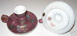 Vintage Pair Porcelain Taper Ceramic Candle Holders  A5