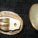 Vintage Clip on  Earings Signed  Ciner   A5