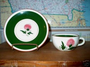 Stangl Thistle Cup and Saucer   B07