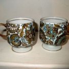 Pair Royal Paisley Footed Cups I19
