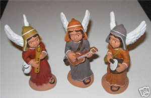 Set 3 Angels from Peru Playing Instruments       M2