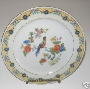 China Epaig Royal Salad Plates Bird in Center A3