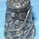 Vintage Ornate Sterling Silver Thimble A1