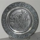 1983 Wilton Pewter Plate Carolers front of Church  MT