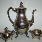 W.S. Silver Tea Set 4 piece B02