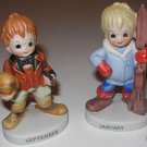 2 Lefton Figurines Jan  Girl and  Sept Boy  A5