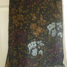 CALIFORNIA KRUSH Below-Knee Black FLORAL PRINT Skirt size M *NWT*