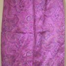 PETITE SOPHISTICATE Orchid Purple Mid-Calf SILK Print Skirt size 4