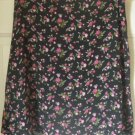 35th & 10th Black Above-Knee FLORAL PRINT Skirt size 12