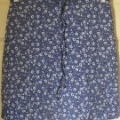 RIKKI J. Blue Mid-Thigh STRETCH FLORAL PRINT Skirt size 3