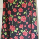 NY & CO Black Above-Knee FLORAL PRINT Skirt size M
