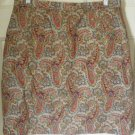 LIZSPORT Beige Above-Knee PAISLEY Skirt size 16 *NWOT*