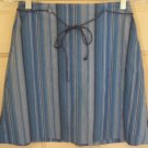 EXACT CHANGE Blue Mid-Thigh STRETCH STRIPED Skirt size 1