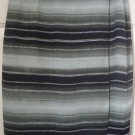 CHAUS Green Knee-Length Striped WRAP Skirt size 6