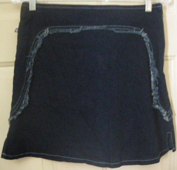 THE 2ND CO. Dark Blue Mid-Thigh STRETCH DENIM Skirt size 3