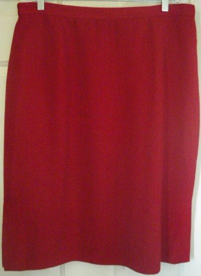 SAG HARBOR Red Below-Knee Skirt size 18