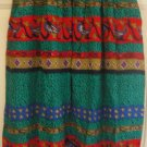 CHAUS Green Below-Knee PLEATED Print Skirt size 8