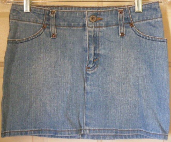 LEVI'S Blue STRETCH DENIM Mini Skirt size 26