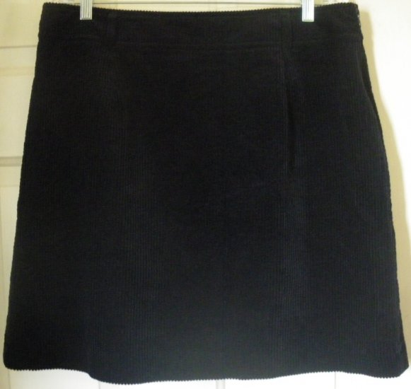 LT SPORT Navy Above-Knee CORDUROY Skirt size 16