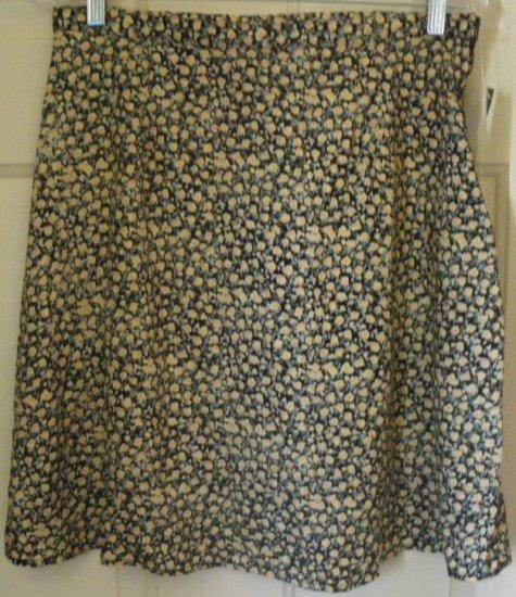 VINTAGE STUDIO Black Above-Knee FLORAL PRINT Skirt size 14 *NWT*