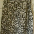 VINTAGE STUDIO Black Above-Knee FLORAL PRINT Skirt size 14 *NWT*