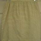 CHRISTINA Yellow Striped Mid-Thigh STRETCH Skirt size M