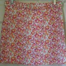 RESOURCE White Mid-Thigh BELTED Floral Print Skirt size 10