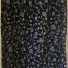 LIZ BAKER Long Black FLORAL PRINT Skirt size 2X