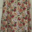 LIZ CLAIBORNE Yellow Above-Knee FLORAL PRINT Skirt size 8