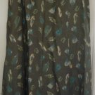 SIGRID OLSEN Long Army Green PRINT Skirt size 10