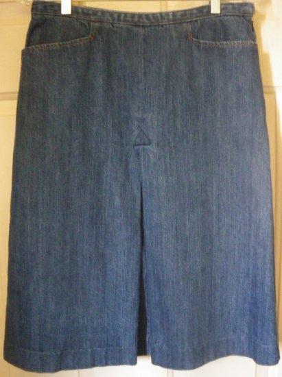 FALLS CREEK Blue Below-Knee DENIM Skirt size 8