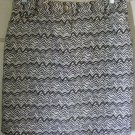 WILLI SMITH Brown Above-Knee STRETCH ZEBRA PRINT Skirt size 10