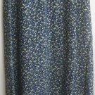 VINTAGE STUDIO Long Black FLORAL PRINT Skirt size S
