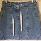 JONES NEW YORK SPORT Blue Mid-Thigh DENIM Skirt size 4