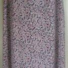 CHRISTOPHER & BANKS Long Black FLORAL PRINT Skirt size 6