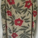 AUGUST MAX Beige Knee-Length FLORAL PRINT SILK Skirt size 18W